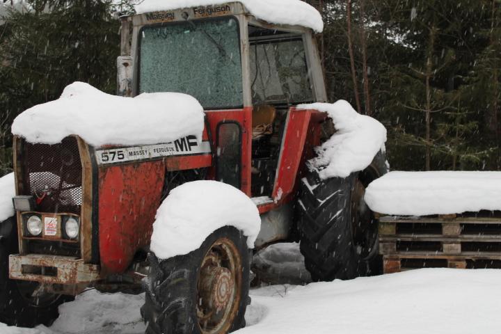Traktorer hugges